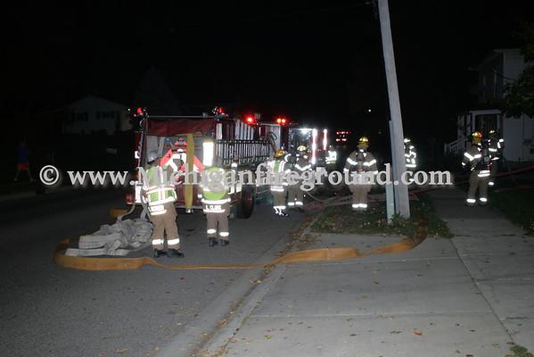 10/10/10 - Mason attic fire, 142 Okemos St