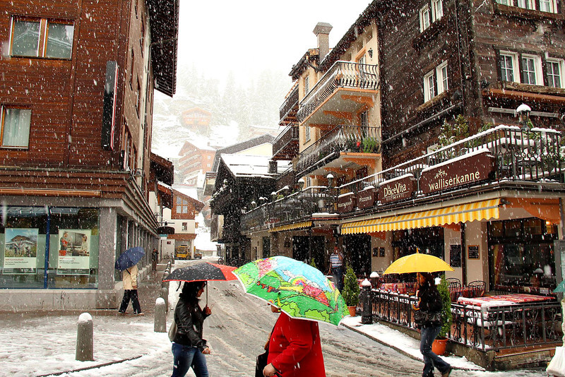A rare late spring snowstorm greeted us our first morning in Zermatt on June 1, 2011. Normally the snow season is considered over by April 15th, and this was very unexpected.