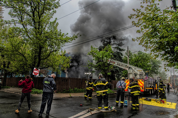 New Haven 2nd alarm 64 Monroe St. dwelling fire