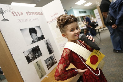 Living Wax Museum at Powell Elementary