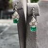 2.00ctw+ Emerald and Diamond Art Deco Conversion Earrings 4