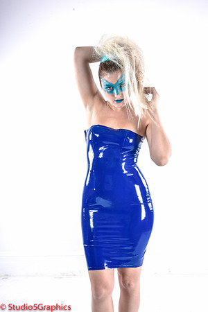 Porcelain matrix style latex outfit