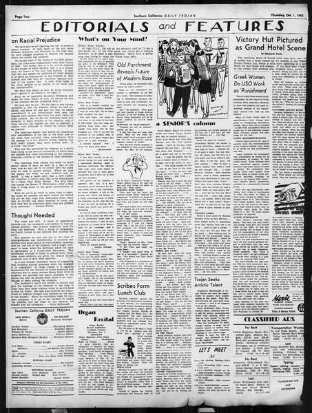 Daily Trojan, Vol. 34, No. 10, October 01, 1942