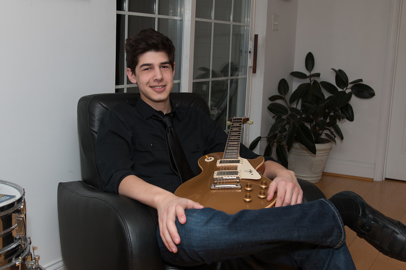 Josh Berenzweig and guitar