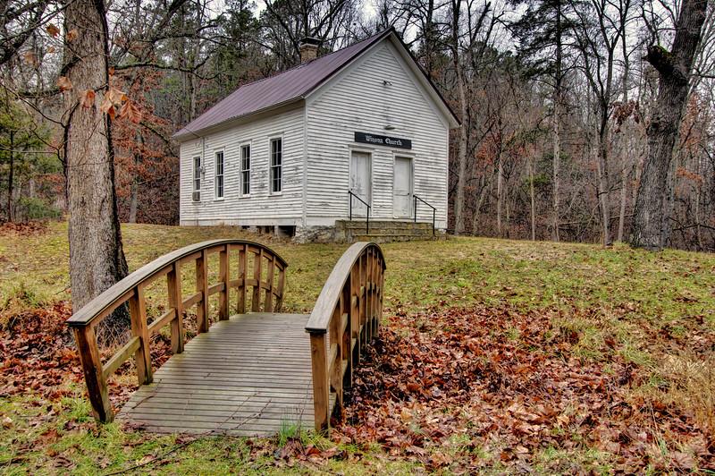 Winona Schoolhouse and Church, Winona Springs, AR