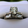2.00ctw Antique Cushion Cut Diamond Wedding Set, GIA J VS1 24