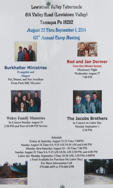 Lumber River Quartet, Lewistown Valley Tabernacle, Tamaqua, Walker Township (8-22-2014)
