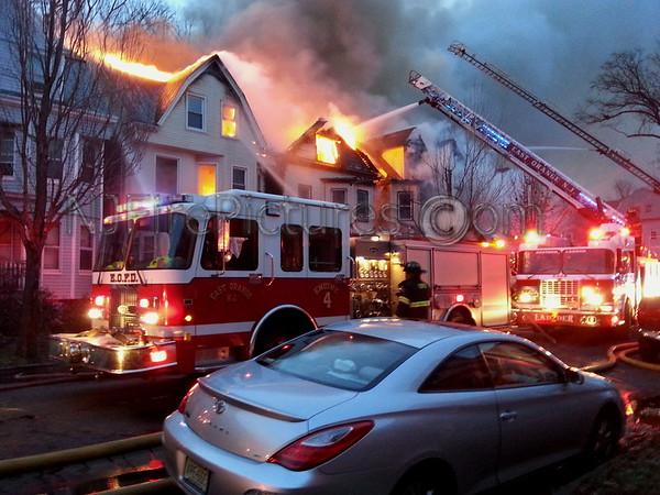 East Orange NJ 3rd Alarm 16 North 17th St. Multiple Fatal FIre 12/7/2014