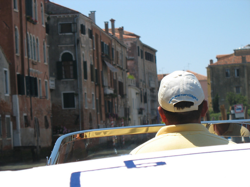 Water taxi down the Grand Canal
