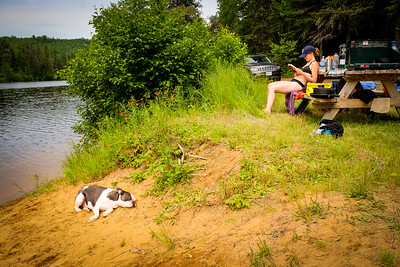 Camping at Lac Taureau
