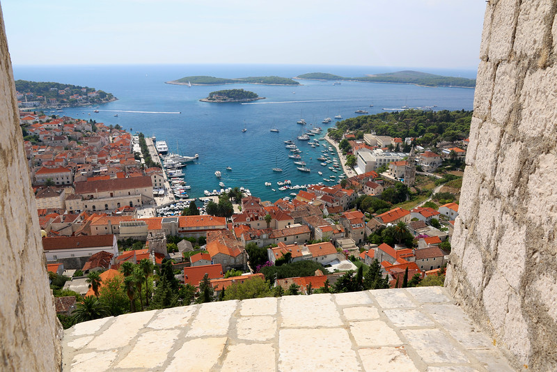 View of Hvar from the Fortress