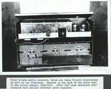 First 6-tube mobile receiver 1929-1931
