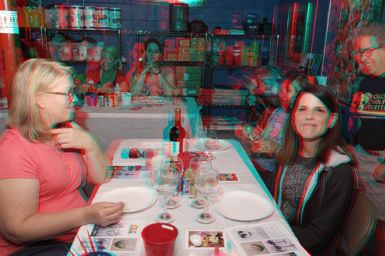 Michelle Kish's 3D Photos Wine Glass Painting Part 6-4-2017