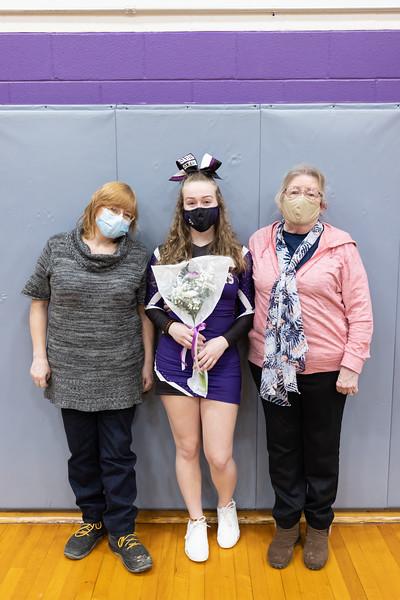 Senior Cheer Night 2/10/21