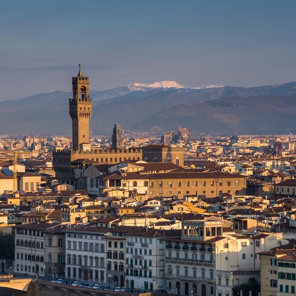 Palazzo Vecchio and the Florence cityscape