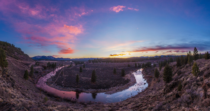 Truckee River overlooking the legacy trail and Northstar California