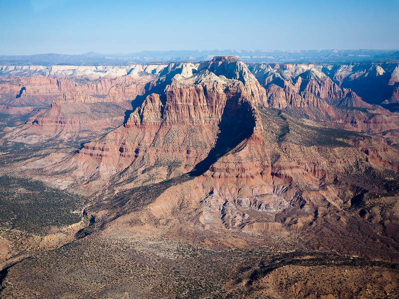 Helicopter tour near Zion National Park