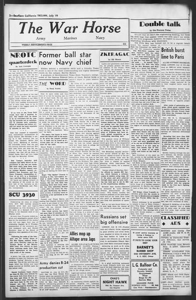 The Trojan, Vol. 35, No. 139, July 19, 1944