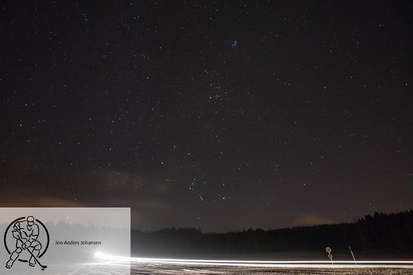 Nattfotografering på Sandbakken, 8.1.18