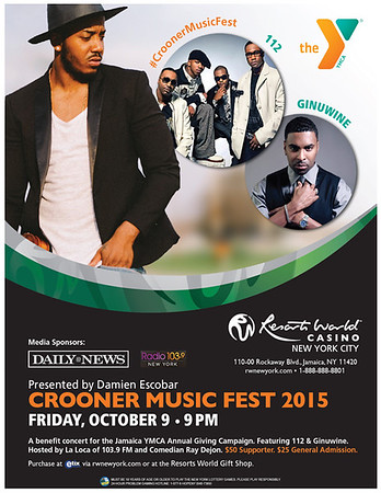 YMCA-Crooner Music Fest 2015 at Resorts World Casino (10.9.15)