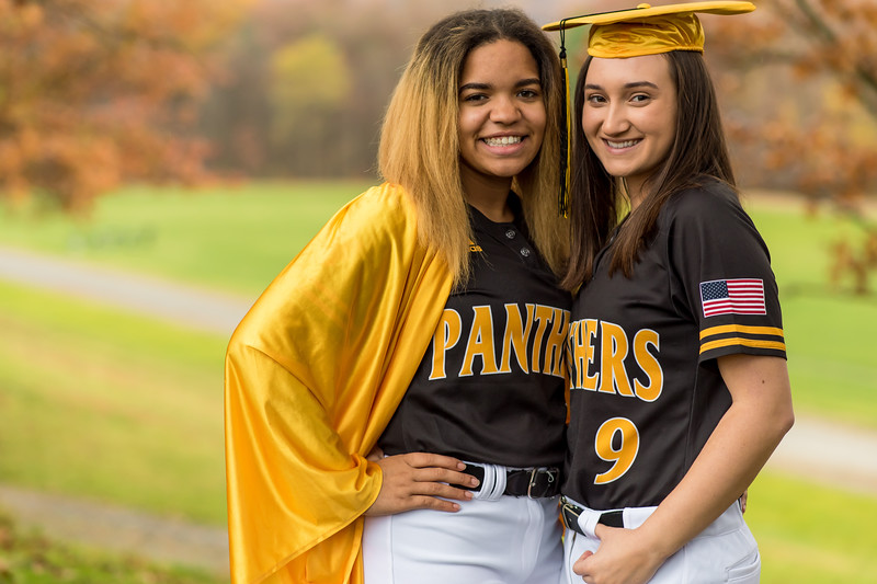 Faith and Claire - Senior Softball