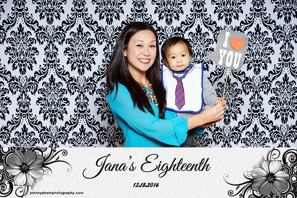 Jana's 18th Birthday 12-18-16