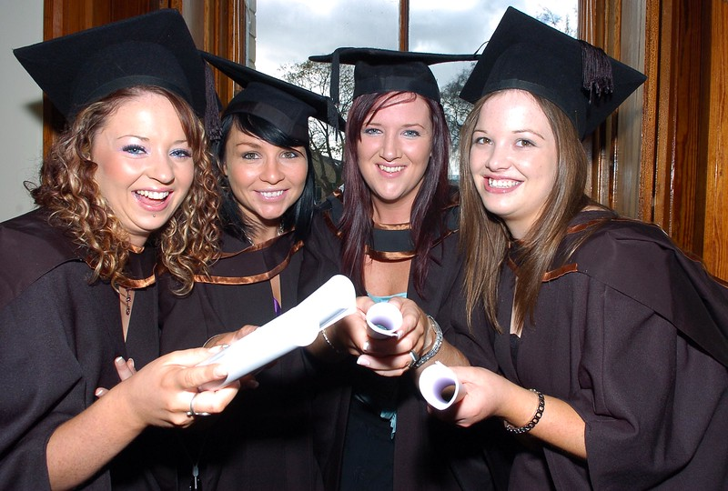 Provision 261006 Kathyrn Sheehan (Cork), Lorraine Moloney (Kilkenny), Clare White (Waterford) and Patrice Tobin (Tipperary) graduated with BSc (Hons) in Psychiatric Nursing from WIT yesterday (Weds). PIC Bernie Keating/Provision