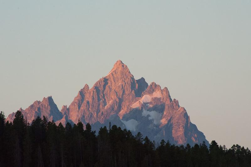 Grand Teton Peak at sunrise in the Grand Teton NP