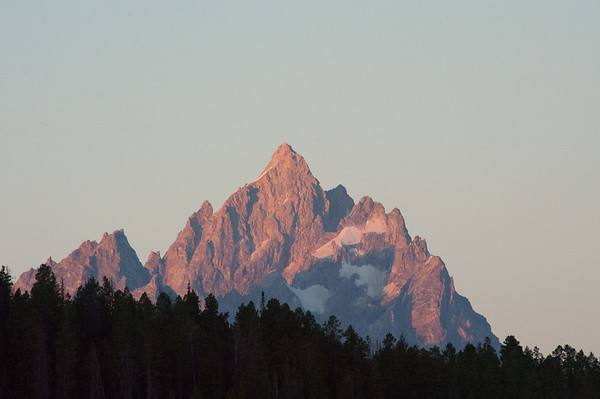Grand Teton Peak at sunrise in the Grand Teton NP