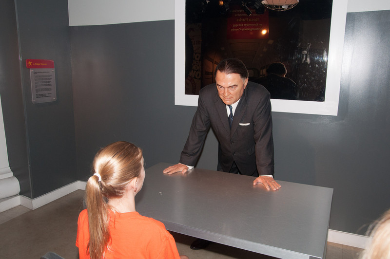 Rachel being interrogated by J. Edgar Hoover.