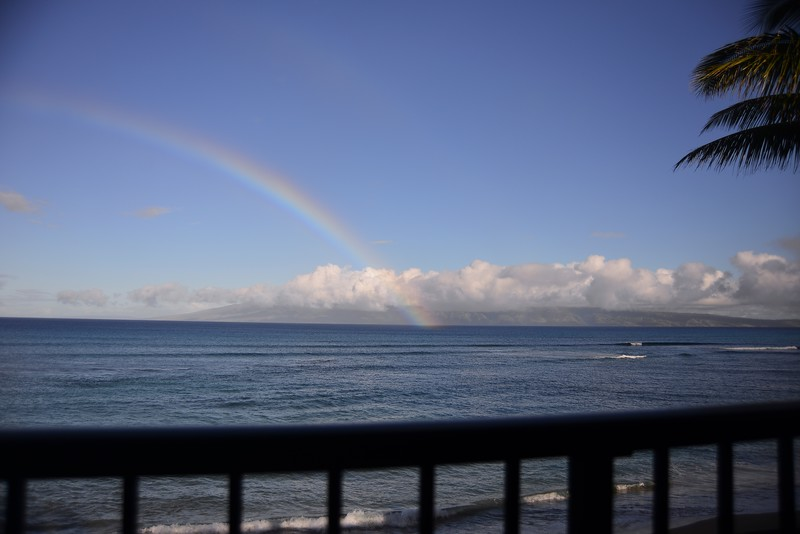 Checking in to our Condo overlooking the channel to Molokai, we were shown that Hawaii truly IS the end of the rainbow!