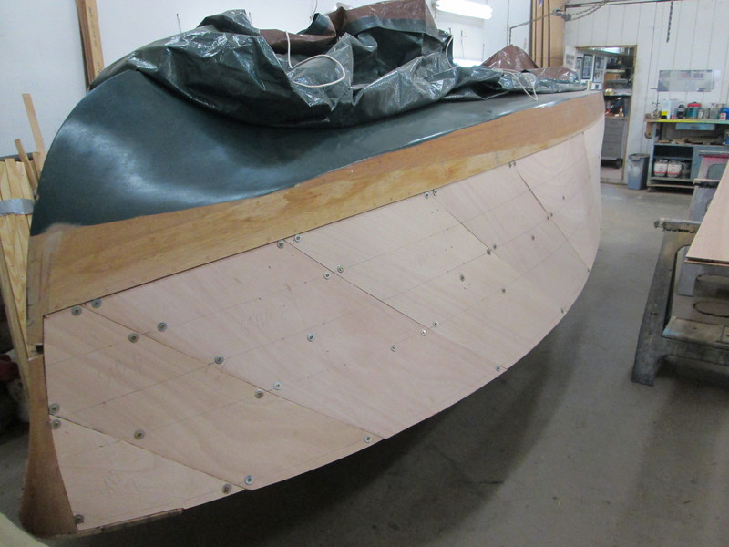 Front starboard view of plywood fit.