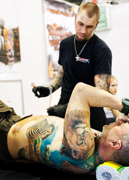 Tattoo Artist at Saint Petersburg Tattoo Week 2016