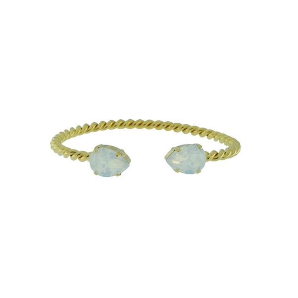 Mini Drop Bracelet / White Opal