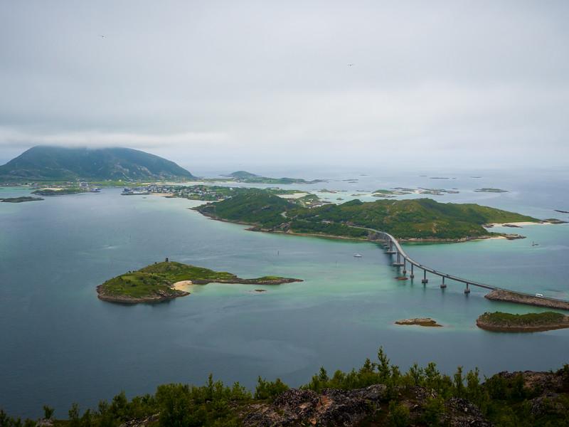 View over Sommarøy from Ørnfløya