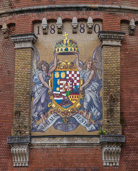 coat of arms mosaic Buda Castle.jpg