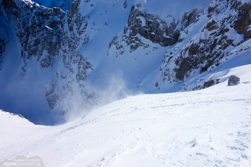 The steep upper part of Lichlkopf had a thin and hard snow cover, making progress harder.