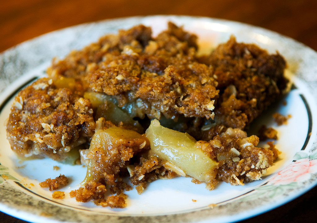 ". Get the recipe for this <a href=""http://www.morningjournal.com/lifestyle/20140929/recipe-autumn-harvest-apple-crisp\"">homemade apple crisp, shared in 2014 by Susan Keillor of Lorain. (photo credit: Duncan Scott)</a>"