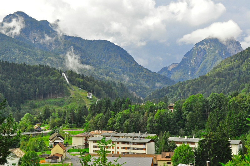 our first Italian town, Tarvisio