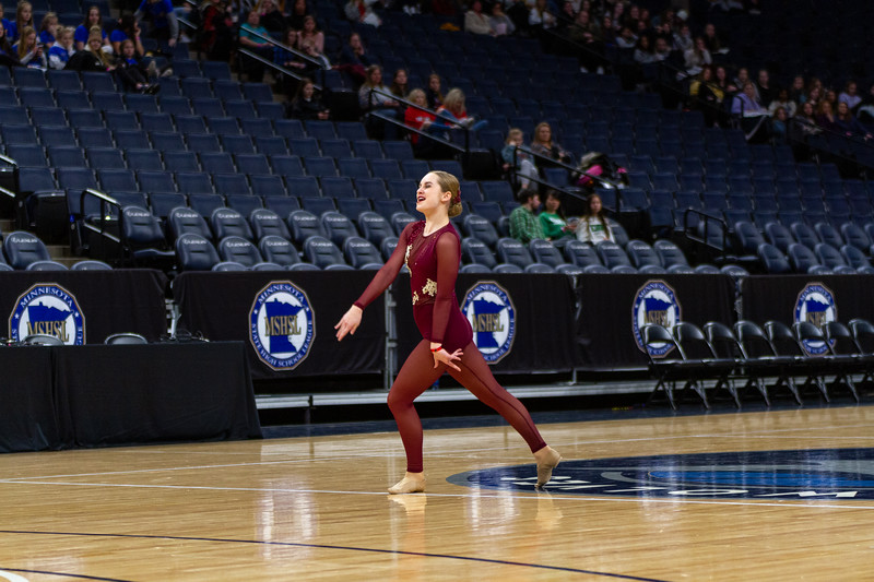 Holy Family's Elle Bernaski '21 at 2020 MSHSL State Jazz Tournament Final - Collin Nawrocki/The Phoenix