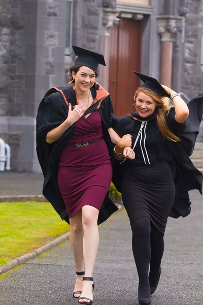 30/10/2015. Waterford Institute of Technology Conferring.Pictured are Aoife Ryan, Fethard, Meave Neville, Knockanore. Picture: Patrick Browne