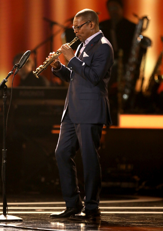 . Ravi Coltrane performs at the 59th annual Grammy Awards on Sunday, Feb. 12, 2017, in Los Angeles. (Photo by Matt Sayles/Invision/AP)