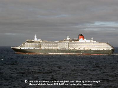 Queen Victoria at sea 1/08