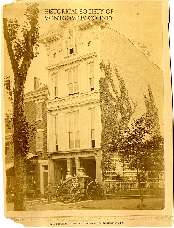 . This undated photo from the Historical Society of Montgomery County shows the Humane Fire Company House in ��Norristown�.