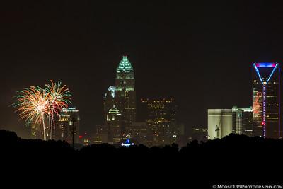 Charlotte Fireworks - July 4, 2015
