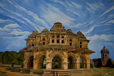 """""""The Lotus Mahal"""" (oil on canvas) by Soumithri Jagalur"""
