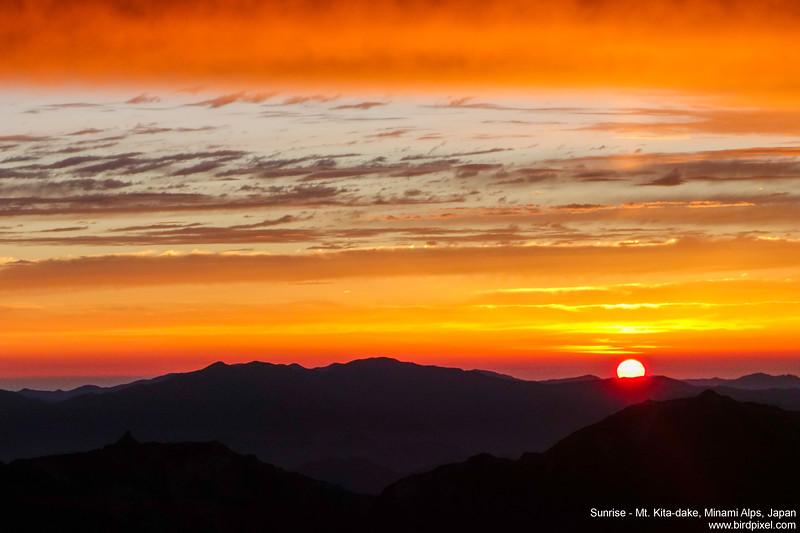 Sunrise - Mt. Kita-dake, Minami Alps, Japan