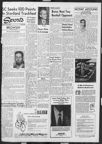 Daily Trojan, Vol. 45, No. 111, April 08, 1954
