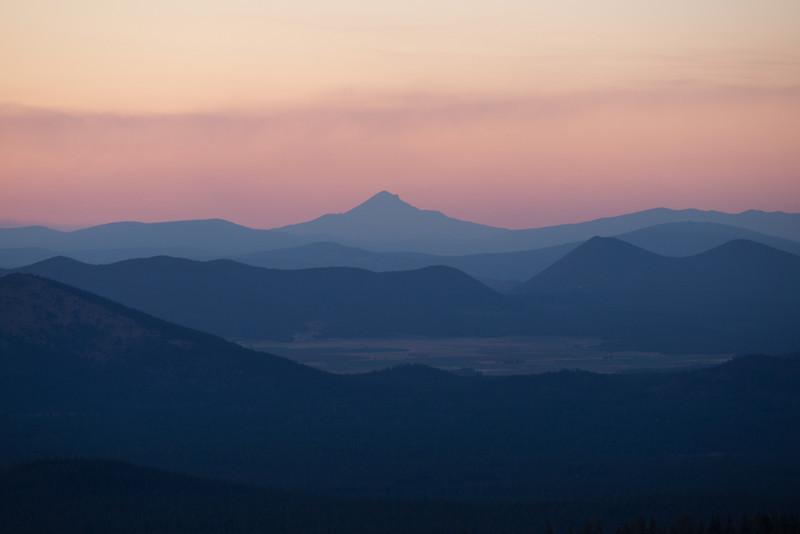 Sunset over them thar hills