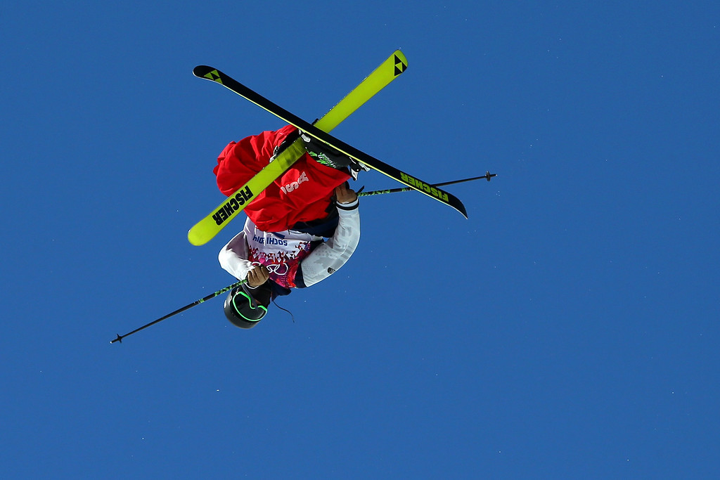 . Joss Christensen of the United States competes in the Freestyle Skiing Men\'s Ski Slopestyle Finals during day six of the Sochi 2014 Winter Olympics at Rosa Khutor Extreme Park on February 13, 2014 in Sochi, Russia.  (Photo by Mike Ehrmann/Getty Images)